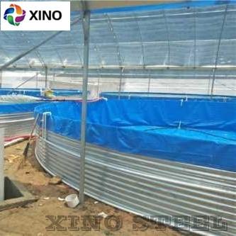 Corrugated Galvanized Steel Aquaculture Fish Shrimp Farm Tank PVC Plastic Liner