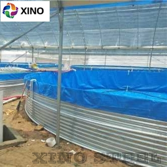 Corrugated Galvanized Steel Aquaculture Fish Shrimp Farm Tank PVC Plastic Liner